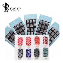 Beautome 2016 HOT SALE Easy Stamping Tool Nail Art Template Stickers Stamp Stencil Guide Reusable Tips 20 Style For Choice