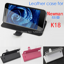 For Newman K18 PU Leather Flip Case Cover Smartphone Accessories Leather Phone Cases For Newman K18 Stand Holder Phone Case Bag