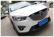 Stainless Steel Chrom Front Center Grille Around Cover Trim Racing Grills For MAZDA CX-5 CX5 2012 20131PC Exterior Car Styling