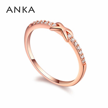 "ANKA brand new design ""X"" shape luxury classics rings for women girl rose gold color fashion rings jewelry accessories #16457"