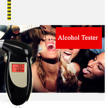 Quick Response Professional LCD Alcohol Tester Digital Alcohol Detector Breathalyzer 2016 Police Alcotester Backlight Display