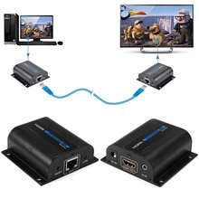 LKV372A HD 1080P HDMI Extender TX/RX 60M with IR over CAT6 RJ45 Ethernet Cable Support HDMI 3D for HDTV DVD Player