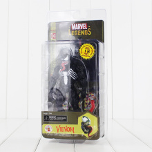 17cm Marvel DC Comic Black Spiderman Figure Toy Venom Marvel Legends Model Doll for Children