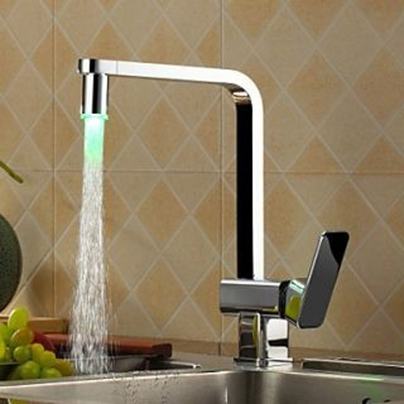 LED Kitchen Faucet,Kitchen Faucet,Faucet Chrome Kitchen Sink Mixer,Kitchen Tap Mixe HG-1203DC<br><br>Aliexpress