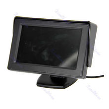 "2017B86""4.3 Inch LCD TFT Rearview Monitor Cars Rear View System For Car Backup Camera JUN16"