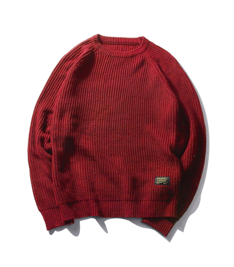 3Color Winter Men Pullover Sweaters Warm Thick Sweater Men Autumn Knited Male Pullover Jumper Navy Red Khaki Brand Muls M-4XL-11