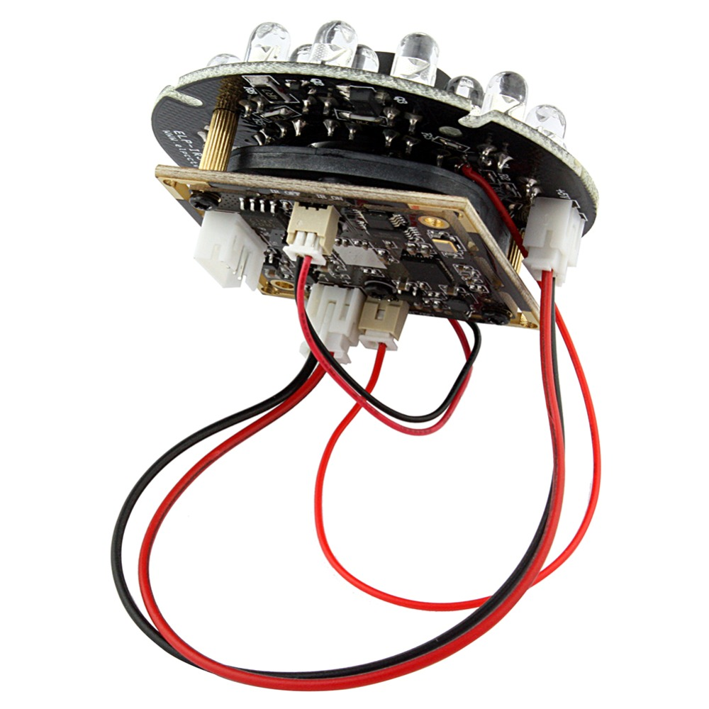 1.0 megapixel 1280*720P 12mm lens HD OV9712 CMOS  H.264  ir night vision camera module with Audio microphone<br>