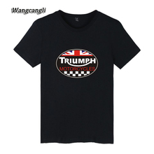 Mens t shirts TRIUMPH MOTORCYCLE Logo t shirt cotton leisure O neck short sleeved plus size t-shirts Casual Tops Tees 4XL