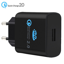 Buy Original Qualcomm Quick charge 2.0 EU Wall USB Charger samsung iPhone Universal Fast Travel Charger XIAOMI SONY for $14.10 in AliExpress store
