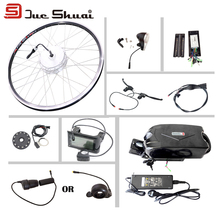 "E bike Conversion Kit with 36V 10AH Battery for 20"" 26"" 700C Front Brushless Hub Motor Wheel LCD Display Electric Bike Kit"