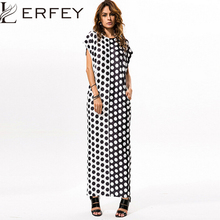 Buy LERFEY Summer Dress Women Polka Dots Casual Loose Long Maxi Dresses Sexy Beach Short Sleeve Dress Vestidos Women Clothing for $15.69 in AliExpress store