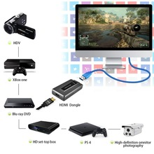 NEW HDMI to USB 3.0 Game Video Capture Recording 1080P Live Streaming can OBS Studio Windows Mac Linux to Twitch Youtube Hitbox(China)