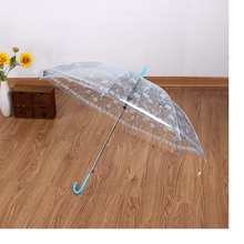 20pcs New Fashion Transparent Clear Umbrella Snowflake Apollo Princess Women Rain Umbrella Long Handle Umbrellas WA1358