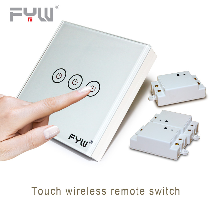 Smart Home House System Luxury Crystal Glass Wall Switch Touch Switch Normal Domestic Switch Wireless Remote Control<br>