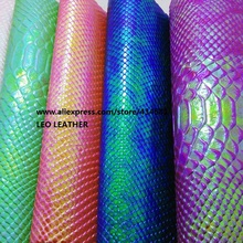 1PC A4 SIZE Embossed Python Snake Leather Fabric  PU Eco Leather with  Faux Leather Fabric Synthetic Leather Fabric P785