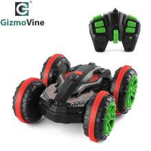 GizmoVine 1:18 RC Stunt Car 360 Rotate Remote Control Car Driving on Water and Land Amphibious Electric Toys Children(China)