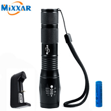 ZK30 CREE XM-L T6 4000LM LED Flashlight Torch LED 5 Mode Zoomable Flashlights Light For 3x AAA or 18650 Rechargeable Battery