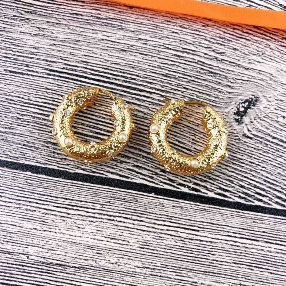 2019 Concave-Convex Decorative Round Fashion Personality Gold CC Earings Kolczyki Kupe Joyas Jewellery