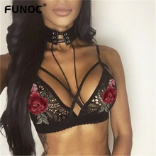 Buy Funoc Women Ladies Sexy Lingerie Floral Sheer Lace Bra Embroidery Top Seamless Bralette Unpadded Camis Wireless Bras Brassiere