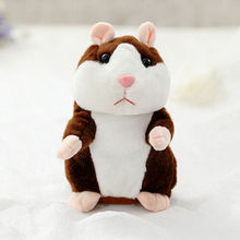 3 Colors Cute Talking Hamster Plush Toys Hot Speaking Sound Record Hamsters Educational Toy for Children Gift Child Animal Toy(China)