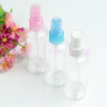 New 10Pcs Clear 100ml Empty Spray Bottle Travel Plastic Perfume Atomizer Color Randomly