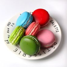 1PC 5cm Soft Dessert Macaron Squishy Cute Cell phone Charms Key Strap Pretend Kitchen Toy Artificial fidget Hamburger squeeze