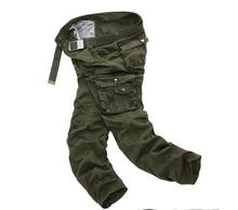 Babbytoro mens cotton cargo pants fashion camo military overall slim multipocket full trousers plus size 29-40(China)