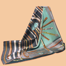 "Huajun || New brand scarf ""Cannes et Cannes"" 90 silk scarf 100% natural mulberry silk hand-rolled twill(China)"