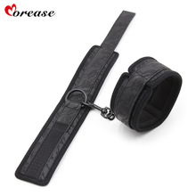 Morease BDSM Harness Handcuffs Ankle Cuffs PU Sponge Sex Toys Restrainted for Male Female Chain Slave Cosplay Bondage Adult Game