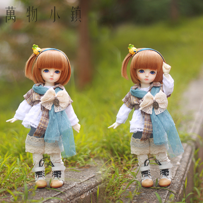 New Lovely Forest Style Grid suit( 6pcs)for BJD MSD YOSD 1/4 1/6 Doll Clothes/Outfit<br>