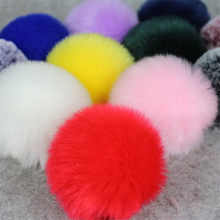 2Pcs 8cm Big pompom Fluffy Plush cloth Craft DIY Soft pon pom pon poms ball furball home decor Sewing Supplies Craf flowers ball(China)