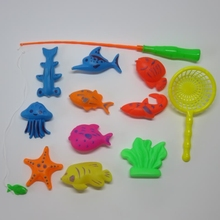 12pcs Magnetic Fishing Toy Game Kids Learning&education magnetic 3D Fish Baby Bath Toys Outdoor Fun toy gift for baby/kid(China)