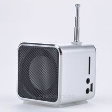 Promotion Price  Portable FM Radio Stereo For PC Laptop Unique TD-V26 Micro SD TF USB Mini Speaker MP3 Music Player  5 colors