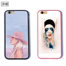 applause LADY GAGA quotes music lyrics phone cases for apple cheap cell phone covers TPU+PC black for iPhone 6 7 plus 5 5s se(China)