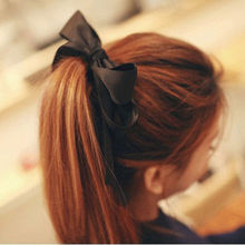 Sale accesorios para el pelo Cute Women Headwear Ribbon Bow Rope Elastic Hair Band Girl Hair Accessories