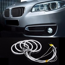PECHAM CCFL Angel Eyes Kit Warm White Halo Ring 131mm*4 For BMW E36 E38 E39 E46 Yellow or White Car styling(China)