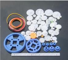 Fine ABS Plastic Gear Kit 0.5M Mixed 80 pcs Different Gears DIY Toy Robot Motor Model Gearbox Accessories