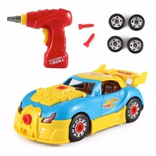 Personalized World Racing Car Kit Model Take-A-Part Real Working Drill And Screws Toy With Realistic Lights&Sounds For Children(China)