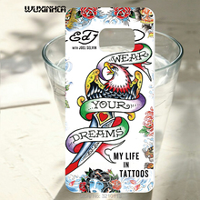 WUXINHCA For Samsung Galaxy S7 G9300 Cases Ed Hardy Pattern plastic hard PC back cover For Samsung Galaxy S7 edge phone case(China)