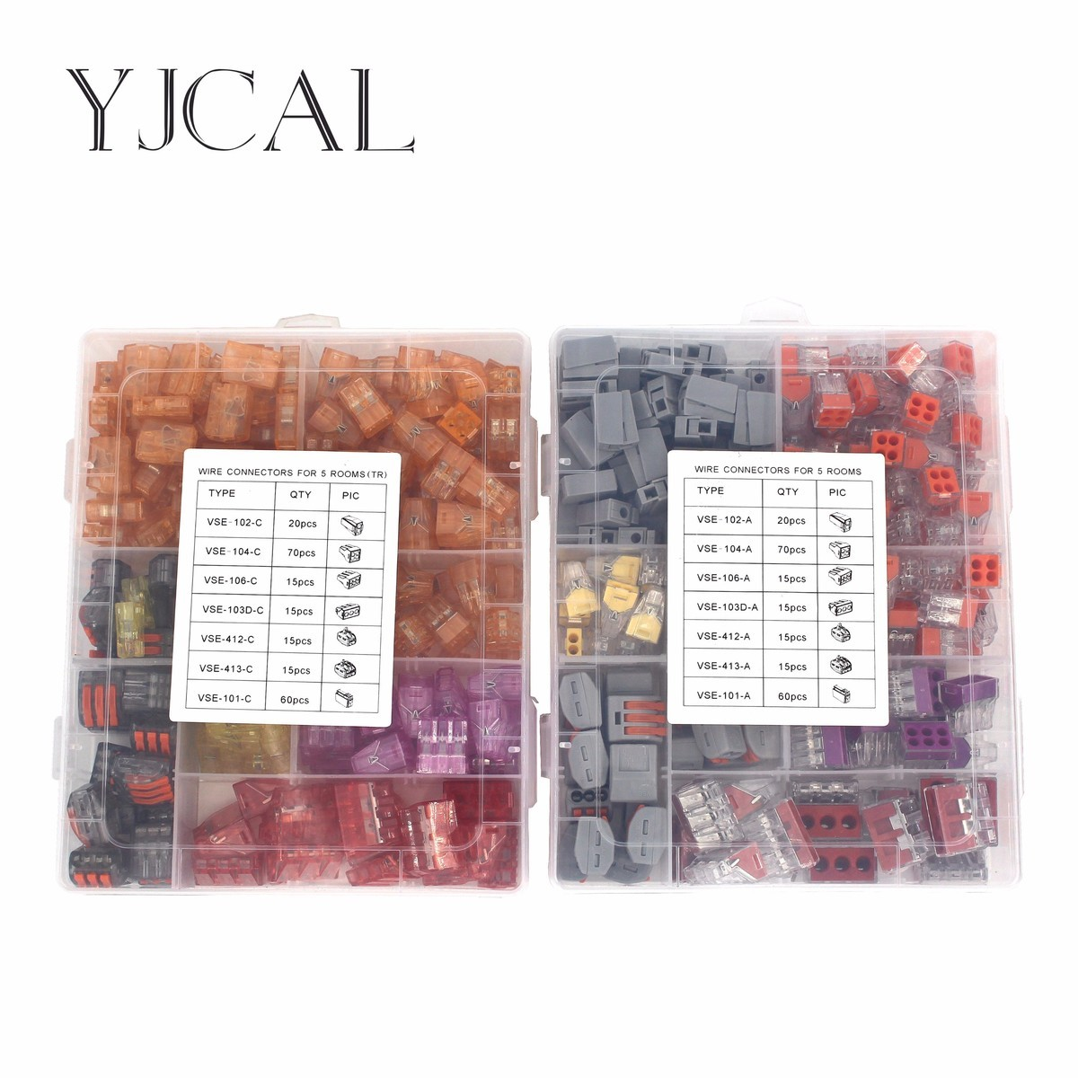 Wago Type Wire Connector  110PCS/Box Universal Compact Terminal Block Lighting  Wire Connector For 5 Room Mixed Quick Connector <br>