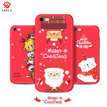 ASINA Christmas Santa Claus Case For iPhone 7 8 Soft Silicone Matte Cover For iPhone 7 8 Plus Cute Pattern Drop Resistant Coque(China)