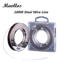 Mavllos Cored Wire Steel Inside Super Strong Multifilament  Fishing Line 100m PE Braided Fishing Line 4 Strands 10- 90lb