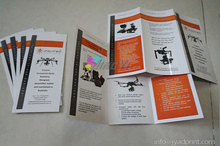 1000pcs A4 fold art paper Flyer/leaflet/borchure with full color printing both sided(China)