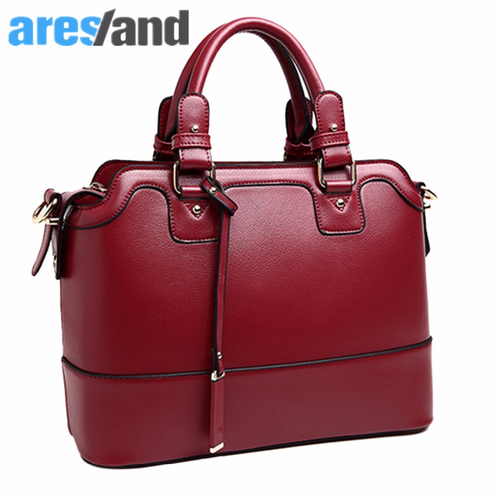 Aresland Fashion Womens PU Leather Top-handle Tote Handbag Cross Body Shoulder Bag - Sapphire Blue /red /black<br><br>Aliexpress