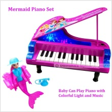 Free Ship Electronic Children's Educational Organ Panotron Keyboard Musical Instrument Plastic Mermaid Piano Toys Baby Toys