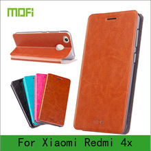 Mofi Case For Xiaomi Redmi 4X Case Book Flip Style High Quality Mobile Phone Cases For Redmi 4X Stand Cover