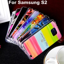 TPU Covers Cases For Samsung I9100 Galaxy S II I9100G i9108 i9100p SII S2 GT-I9100 4.3 inch Case Painted Cover