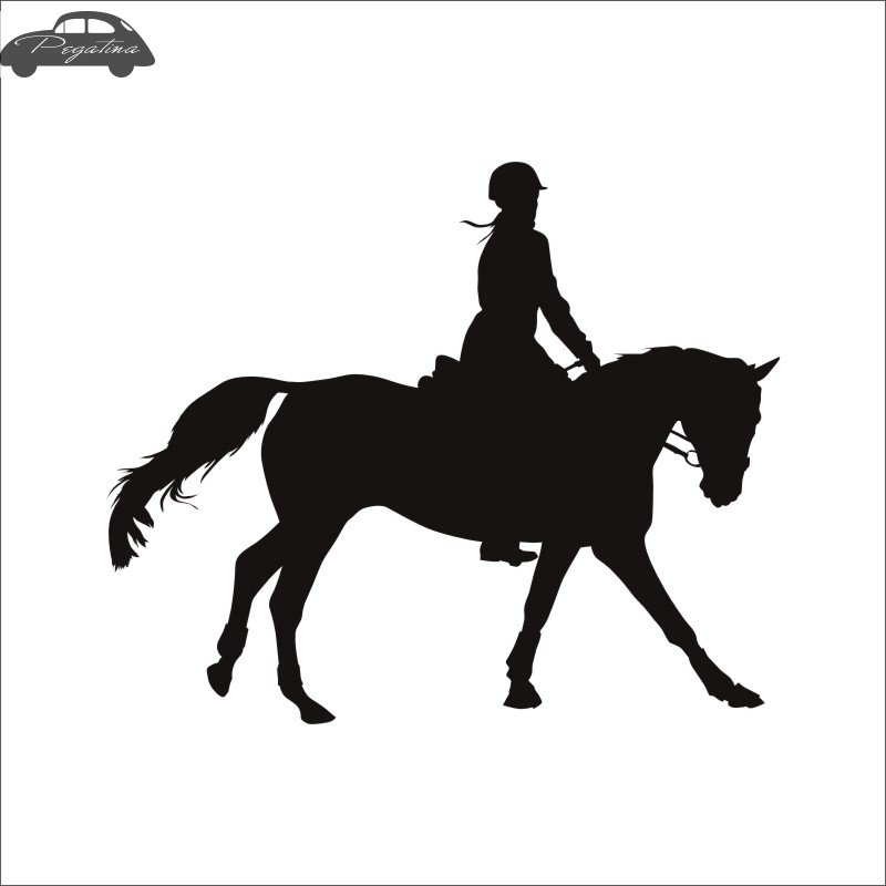 Horse Riding Racing Decal Car Cowboy Sticker Horserace Poster Vinyl Wall Decals Pegatina Decor Mural Sticker