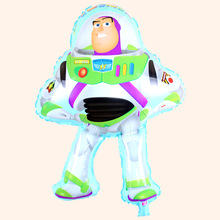 1PC 50*75cm Buzz Lightyear shape balloon for toy story party decoration toy story balloons for birthday party(China)