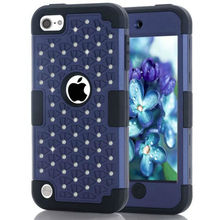 All Over The Sky Star Back Cover Case For iPod Touch 5 iPhone 5c 6 6s Note 5 Simple Shiny Bling Diamond Design 3 in 1 Cover Case
